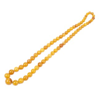 Antique Baltic amber necklace.