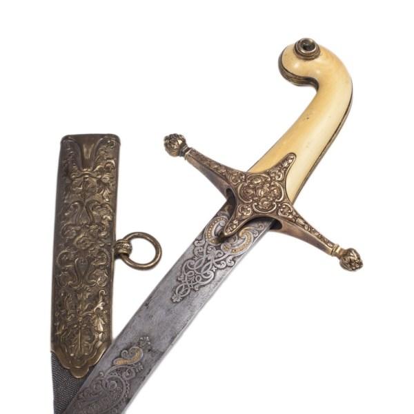 Turkish Shamshir Sword with Damascus Blade