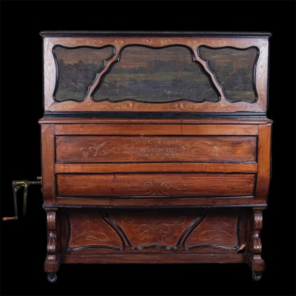 Antique barrel piano with coin and drums, for Pubs