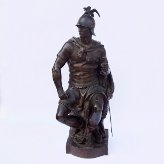 """Le Courage Militaire"" Bronze Sculpture by Paul Dubois"