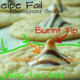 Recipe Fail: Hershey Kiss Thumbprint Cookies