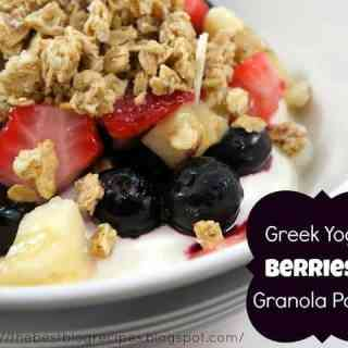 Greek Yogurt, Berries and Granola Parfait