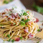 Spaghetti Bacon Carbonara Sauce