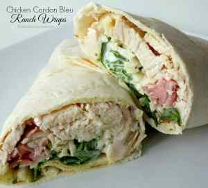 Chicken Cordon Bleu Ranch Wraps | The Best Blog Recipes
