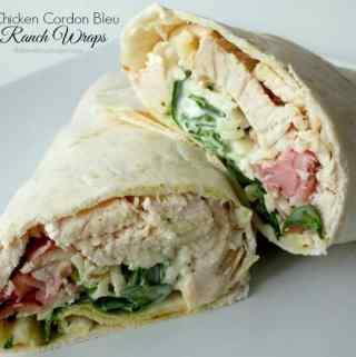 Chicken Cordon Bleu Ranch Wraps