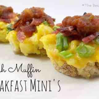 English Muffin Breakfast Mini's