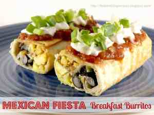 Mexican Fiesta Breakfast Burrito
