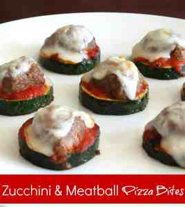 Zucchini & Meatballs Pizza Bites recipe from {The Best Blog Recipes}