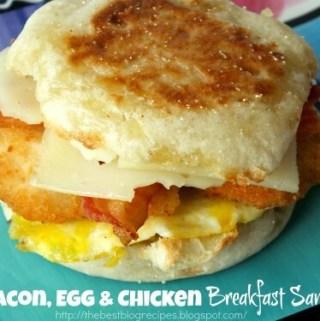 Bacon, Egg and Chicken Breakfast Sandwich