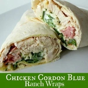 Chicken Cordon Blue Ranch Wraps recipe from {The Best Blog Recipes} recent posts
