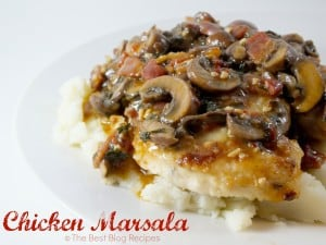 Chicken Marsala recipe from The Best Blog Recipes