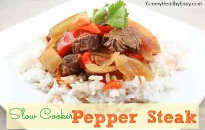 Slow Cooker Pepper Steak 2