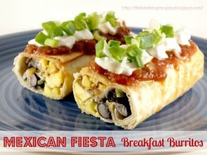 Mexican Fiest Breakfast Burritos recipe from {The Best Blog Recipes}