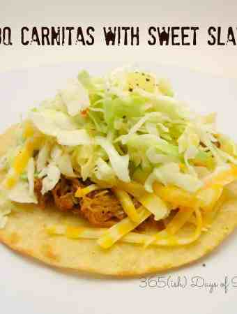 BBQ Carnitas with Sweet Slaw