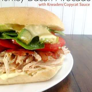 Kneaders Turkey Bacon Avocado Sandwich with Copycat Kneaders Sauce