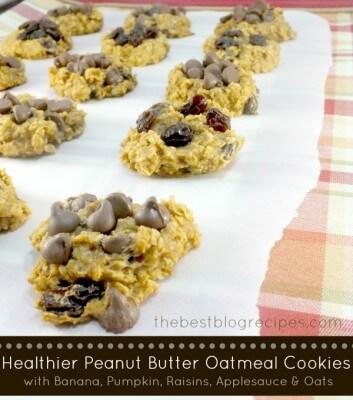 Healthier PB Oatmeal Cookies