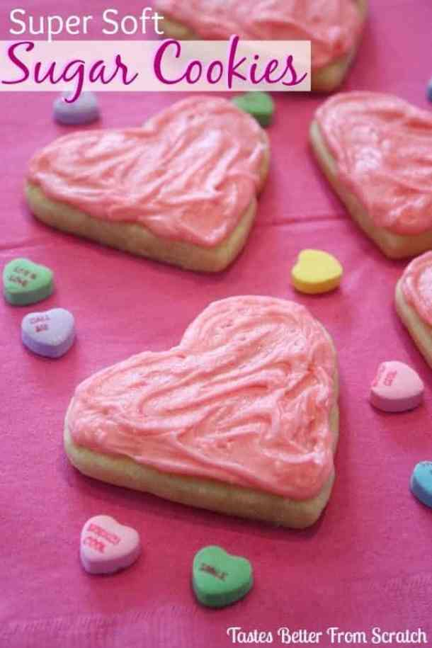 Super Soft Sugar Cookies -- Part of the Best Valentine's Day Cookies