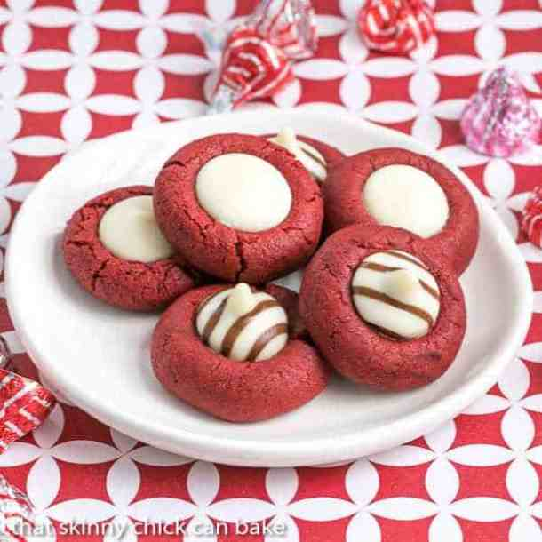 Red Velvet Thumbprints -- Part of the Best Valentine's Day Cookies