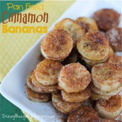 Pan Fried Cinnamon Bananas | A guest post on The Best Blog Recipes