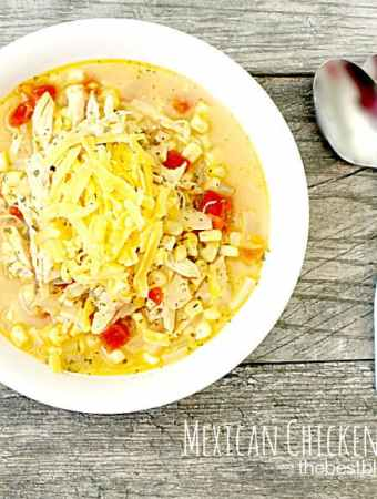 #AD Help us End Hunger and a recipe for a Cheesy Mexican Grilled Chicken Corn Soup