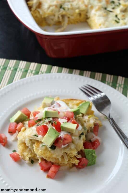 Chicken Suizas Enchilada Casserole | The Best Blog Recipes Casserole Recipe Round Up