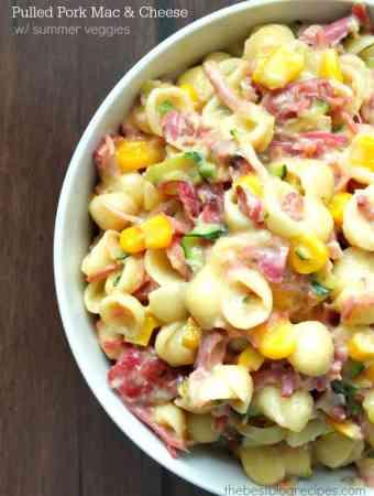 Pulled Pork Mac and Cheese w/ Summer Veggies
