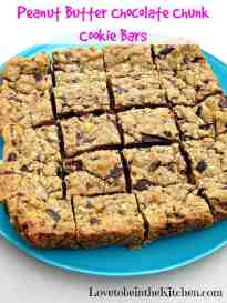 Pb Chocolate Chunk Cookie Bars The Best Blog Recipes