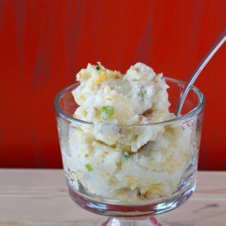 Loaded Twice Baked Mashed Potatoes