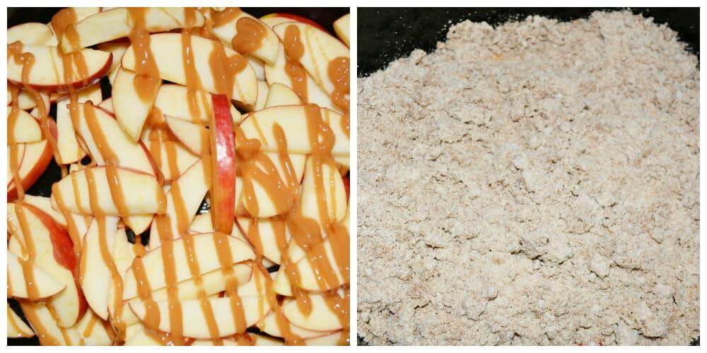 Caramel Apple Spice Cake Crisp