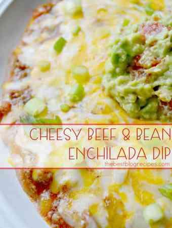 Cheesy Beef & Bean Enchilada Dip