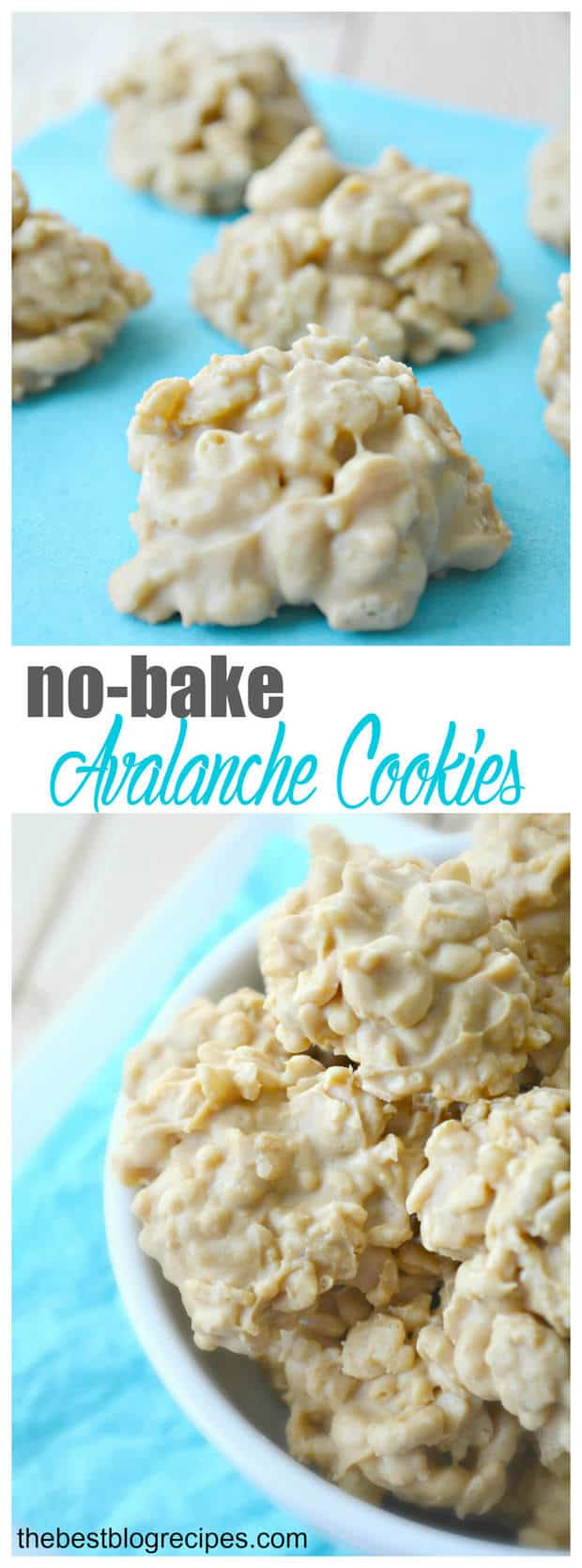 No-Bake Avalanche Cookies are such an easy and yummy treat! You're family will love them! | thebestblogrecipes.com
