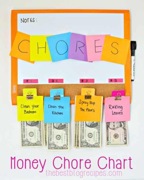Money Chore Chart #CleanForTheHolidays #ad