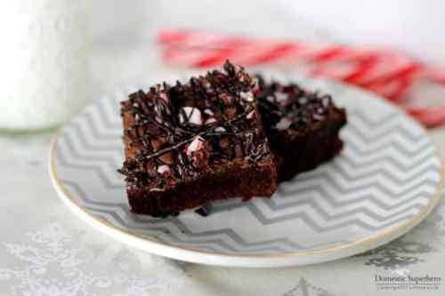 Dark Chocolate Peppermint Brownies featured on 26 Christmas Recipes from The Best Blog Recipes