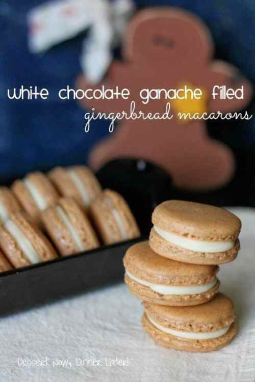 White Chocolate Ganache Filled Macaroons featured on 26 Christmas Recipes from The Best Blog Recipes