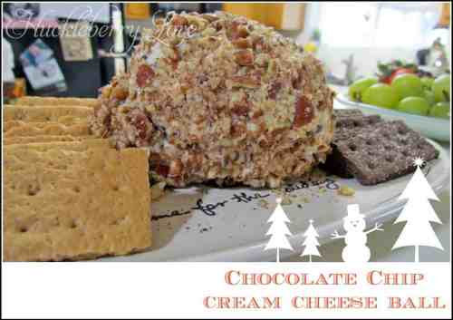 Chocolate Chip Cheese Ball featured on 26 Christmas Recipes from The Best Blog Recipes