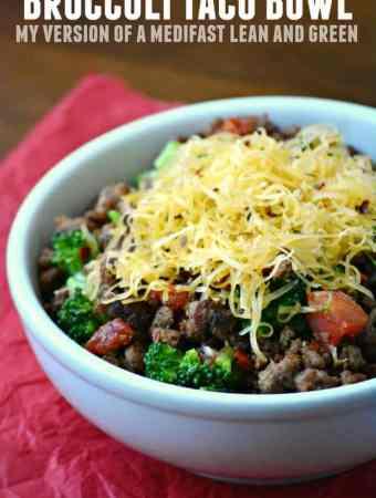 Medifast Lean and Green Recipes: Broccoli Taco Bowl