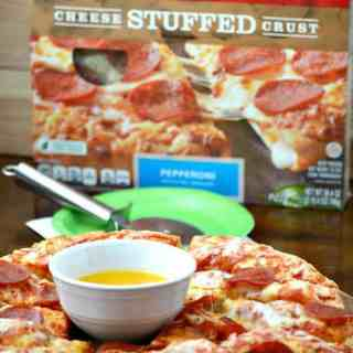 DiGiorno Pepperoni Stuffed Crust® Pizza Sticks with Homemade Garlic Butter Dipping Sauce