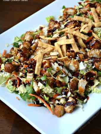 #ad General Tso's Asian Chicken Salad made with Deli Wings!