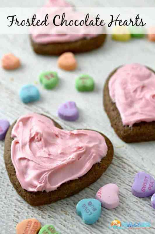 Frosted Chocolate Heart Cookies featured on 30 Valentine's Day Recipes from The Best Blog Recipes
