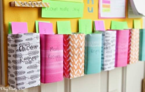 Weekly Menu Board featured on Organization and Cleaning Tips from The Best Blog Recipes