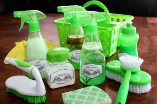 DIY Cleaning Kit featured on Organization and Cleaning Tips from The Best Blog Recipes