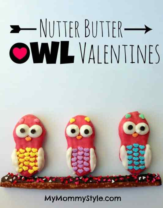 Nutter Butter Owl Valentine's featured on 30 Valentine's Day Recipes from The Best Blog Recipes
