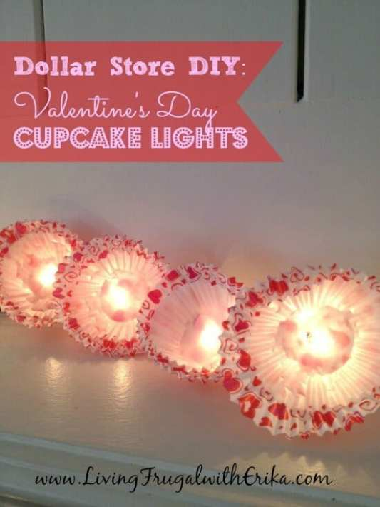 DIY Valentine's Day Cupcake Lights featured on 25 Valentine's Day Crafts from The Best Blog Recipes