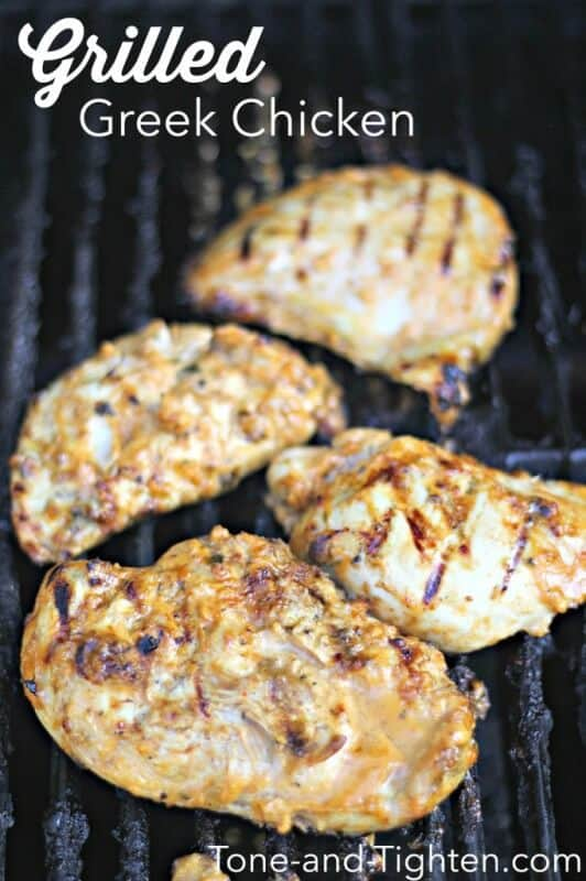 Grilled Greek Chicken featured on 45 Healthier Recipes from The Best Blog Recipes
