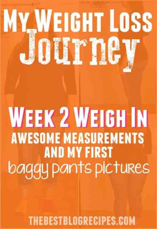 My Weight Loss Journey: Week 2 Weigh In, Measurements and ...