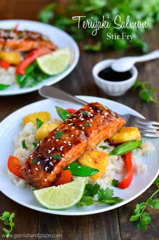 Salmon Stir Fry featured on 45 Healthier Recipes from The Best Blog Recipes