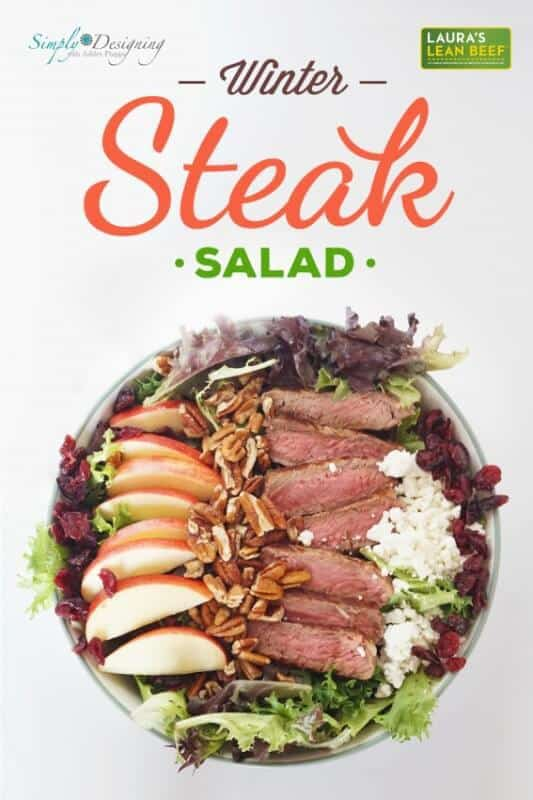 Winter Steak Salad featured on 45 Healthier Recipes from The Best Blog Recipes