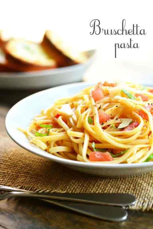 Bruschetta Pasta featured on 45 Healthier Recipes from The Best Blog Recipes
