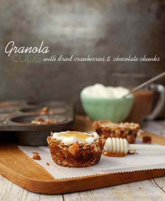 Granola Cups featured on 45 Healthier Recipes from The Best Blog Recipes