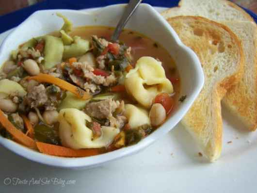 Tortellini Soup featured on 45 Healthier Recipes from The Best Blog Recipes